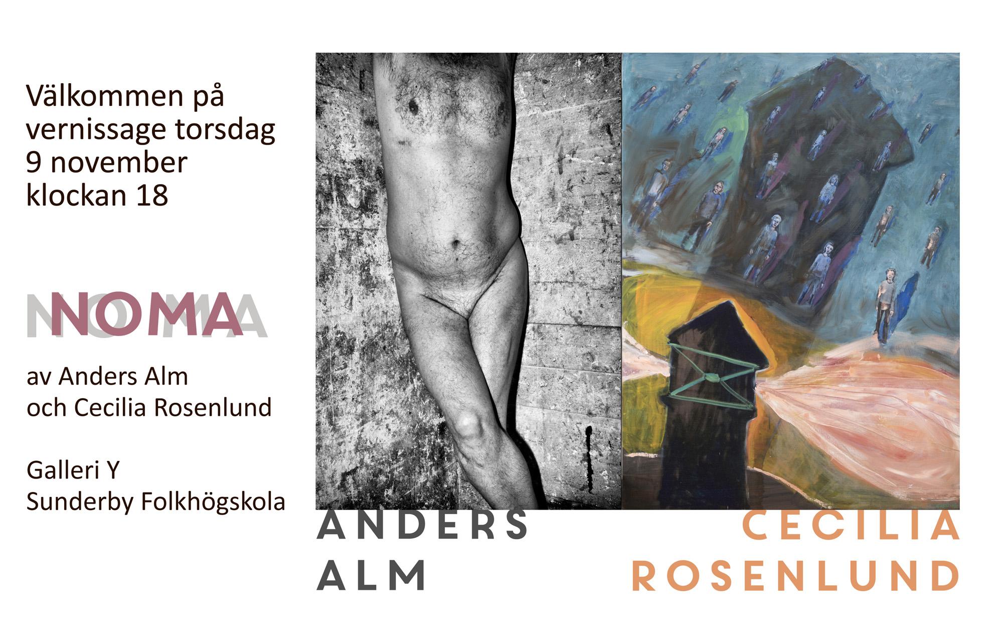 Noma vernissage Anders Alm och Cecilia Rosenlund